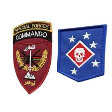 set of 2 afghanistan special forces commando MARSOC parche sew iron on patches