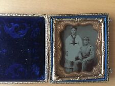REBEL CIVIL WAR MILITARY MAN AND WIFE!  Civil War Confederate and Wife Tintype