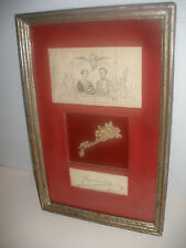 Unique genuine Franz Joseph I Emperor of Austria signed autograph auto JSA COA