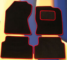 FORD FIESTA MK7 & ST 2011 ON BLACK CARPET WITH RED EDGE CAR FLOOR MATS + CLIPS B
