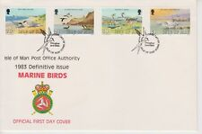 Unaddressed Isle of Man FDC Cover 1983 Definitive Issue Marine Birds 20p-£1