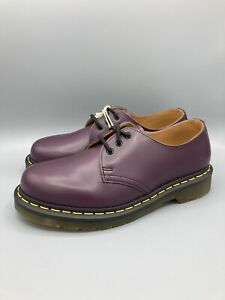 Dr. Martens 1461 Low Purple Smooth Leather Oxford Shoes Size 7 Men's