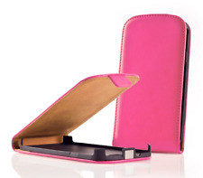 Housse Etui Coque KL + Film (CUIR ROSE) ~ Sony Xperia J (ST26 / ST26i / ST26a)