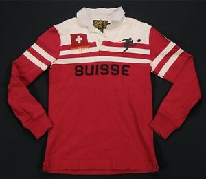 Rare VTG RALPH LAUREN Athletic Outfitters Suisse Switzerland Rugby Shirt 90s M