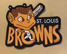 RARE VINTAGE St. Louis Browns Logo Patch 5in. x 4in. Embroidered Sew On Iron
