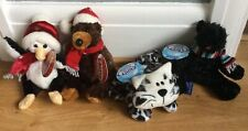 """Mini """"Chilly"""" Soft Toys X 4 by Tesco NWT"""