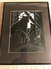 """Nice Sky Redhawk 2000 """"Mothering"""" Pen And Ink Drawing - Signed And Framed"""