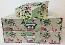 Aufbewahrungsbox  Schubladenbox 2 Fächer + Schreibtisch-Organizer Blume NEU