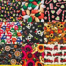 100% Cotton Fabric CHOICE DIY Mask Autumn Fall Christmas 18