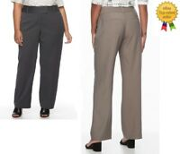 APT 9 Womens Plus Trouser Pants Relaxed Straight size 22W 24W NEW