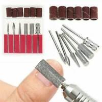 6pcs/Set Nail Art Polishing Grinding Head Electric Drill Bits Manicure Tool AU