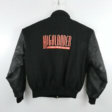 Vtg East West Highlander There Can Be Only One Leather Varsity Jacket Mens Sz L