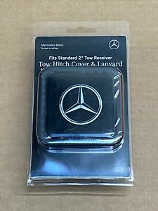 "Mercedes-Benz Genuine 2"" Tow Hitch Receiver Plug Cover & Lanyard NEW G ML GL"