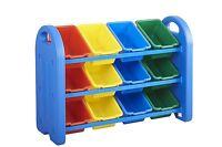 Kids Toy Storage Box Organizer Bins Shelf Sorter Boxes Playroom Furniture Unit