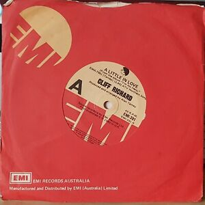 "Cliff Richard – A Little In Love - 1980 7"" single 45rpm excellent"