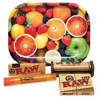 RAW 1 1/4 Rolling Papers, 79mm Roller, Leaf Lock Gear Mini Tray (Fruit) and MORE