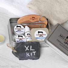 MO Bro's XL été épice Kit Pansement HUILE POUR BARBE, Baume, cire, savon, peigne