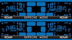 2 Kennzeichenhalter 101 DM Depeche Mode EU Kfz Auto Nummern Schild Halter