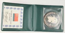 New listing Comoros 1976 5000 Francs 44.93 Gram 92.5% Silver Coin +Coa & Walllet Km #10