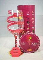 "Lolita - Love My Wine - ""Red Tape"" 15 oz. Hand Painted Wine Glass w/Recipe"