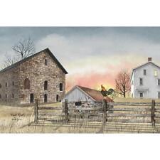 Billy Jacobs Early Riser Chicken Farm  Art Print 18 x 12
