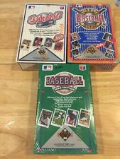 3 Total - 1990 1991 1992 UPPER DECK Baseball Factory Sealed Wax Boxes 108 Packs
