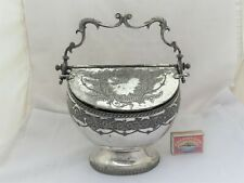 More details for large victorian biscuiteer double opening biscuit box  joseph rogers 1870's
