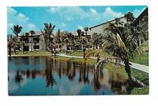 Vintage Florida Chrome Postcard Miami Lakes Executive Club Rental Apartments