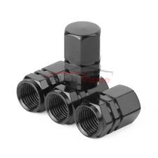 4pcs Universal Aluminum Black bonnet Tire  Pressure Valve Stem Caps Dust Covers