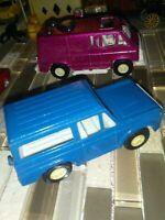 Tootsietoy Ford Bronco Blue USA 1:43,70' California VAN Purple lot of 2 Original