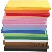 PACK OF 10 EVA Funky FOAM SHEETS A4 - CHOOSE COLOUR - Kids Childrens Craft