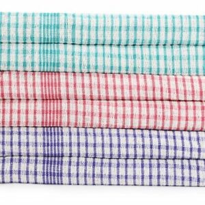 Large Tea Towels 100% Cotton Kitchen Set Cloths Cleaning Drying Pack of 3