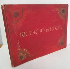 RICORDO DI ROMA Large Albumen Photo Book + Snapshots circa 1900, Rome Italy