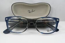Ray-Ban RB 5184 5516 Clear Gray/Blue New Authentic Eyeglasses 52mm w/Case