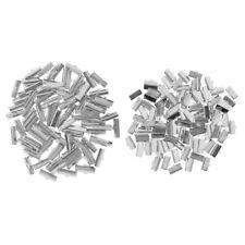 7f12e6497e 200Pcs Ribbon Cord Clamp Ends Over Crimp Tips Clip Beads Cap DIY 13mm,20mm