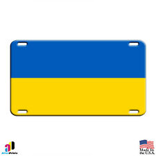 Ukraine Country Flag Aluminum Metal Novelty License Plate Tag