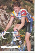 CYCLISME carte cycliste JOHN TALEN équipe PANASONIC ISOSTAR 1989