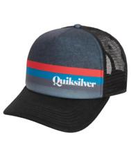 QUIKSILVER SLAB MIGHTY TRUCKER CAP HAT BLACK NEW MENS UNISEX Surf Logo Adjustabl