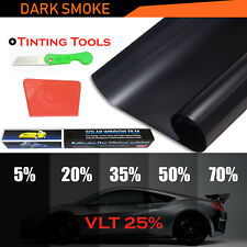 2X Window Tint Film Tinting Home Car Limo Black Dark Smoke 25% 50CMx3M Pro Kit