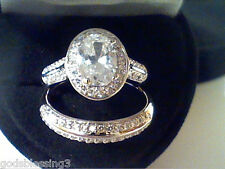 HALO  LCS DIAMOND ENGAGEMENT WEDDING  RING SET SZ 5 SZ 6 SZ 7 SZ  8 SZ 9 SZ 10