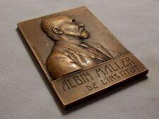 Plaquette médaille ALBIN HALLER chimiste Sorbonne 1912 signée BAUDICHON bronze
