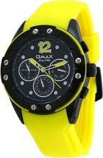 Omax PA20M21A Men's Elite Sports Collection Multi-Functional Yellow Band Watch