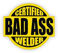 """3 Red Certified Bad Ass Boss Man 2"""" Hard Hat Helmet Stickers H669"""