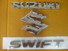 SUZUKI SWIFT TAIL GATE CHROME LOGO BADGE EMBLEM  (si261)