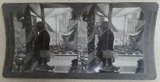 1923 Pres Harding Making Speech at Ketchikan, AK Stereocard He Died On This Trip