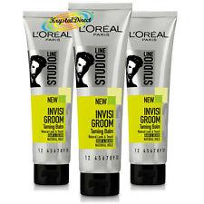 3x Loreal Studio Line Invisi Groom Taming Balm Natural Look Hair Gel 150ml