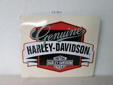 OEM Harley-Davidson Genuine w/Banner Metal Tin Sign Embossed New Shop Bar Garage