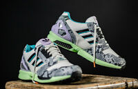 Adidas Originals ZX 8000 Mens Lethal Nights White Black Green Shoe Sneaker Snake
