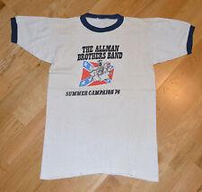 RaRe *1974 ALLMAN BROTHERS BAND* vintage rock concert tour t-shirt (S) 70's Band