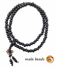 Sandalwood 108 Mala 5mm Bead BLACK Buddhist Hindu Japa FREE POST